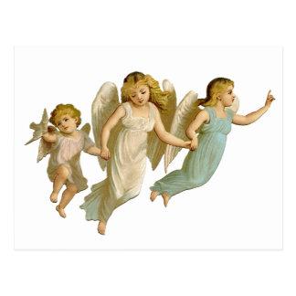 Three angels postcard