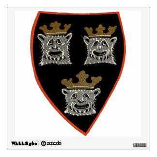 Three Animal Kings Wall Sticker