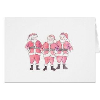 Three Annoyed Santas Card