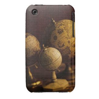 Three antique globes iPhone 3 Case-Mate cases