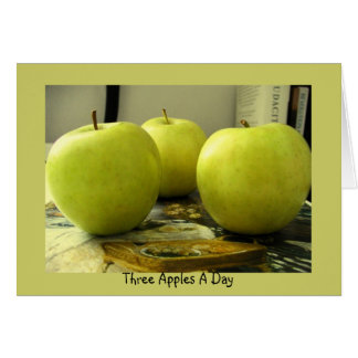 Three Apples A Day Card