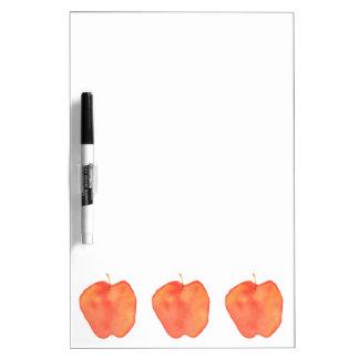 Three Apples Dry Erase White Board