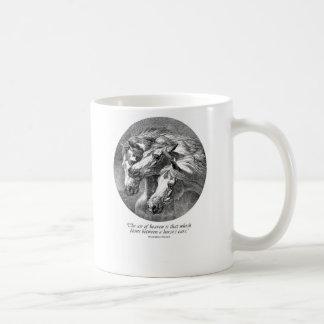 Three Arabians Classic White Coffee Mug