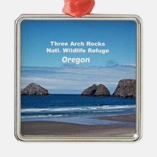 Three Arch Rocks, Natl. Wildlife Refuge Metal Ornament
