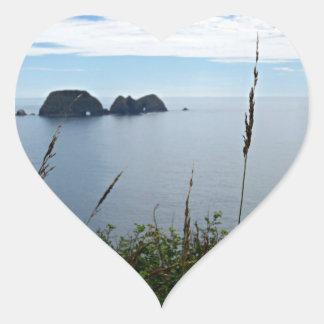 Three Arches Rock, Oceanside, Oregon Heart Sticker