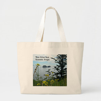 Three Arches Rock, Oceanside, Oregon Large Tote Bag