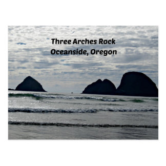Three Arches Rock, Oceanside, Oregon Postcard