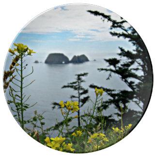 Three Arches Rock, Oregon Dinner Plate