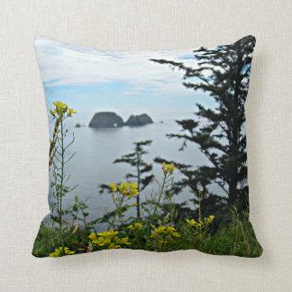 Three Arches Rock, Oregon Throw Pillow