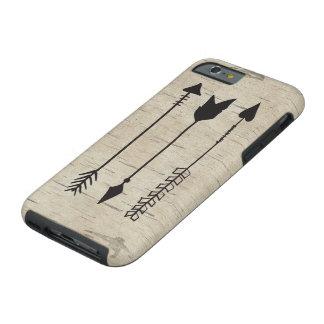 Three arrows on birch wood iphone 6 case