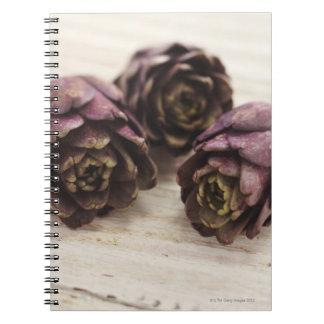 Three artichokes spiral notebook