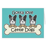 Three Australian Cattle Dogs Cards