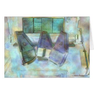 Three Autoharps, Piano and Guitar Card