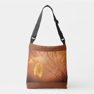 Three autumn leaves crossbody bag