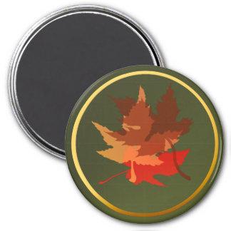 Three Autumn Leaves Magnet