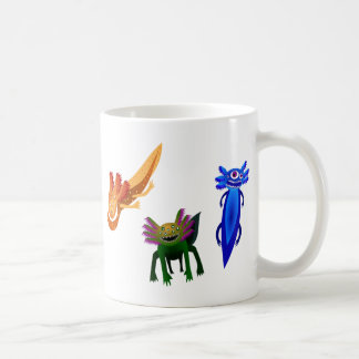 Three Axolotl monsters Coffee Mug