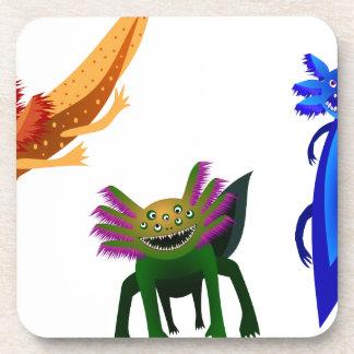 Three Axolotl monsters Coasters
