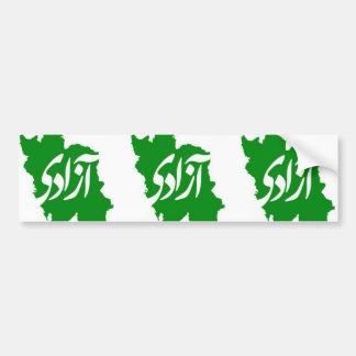 THREE Azadi (Freedom) Map of Iran Bumper Sticker