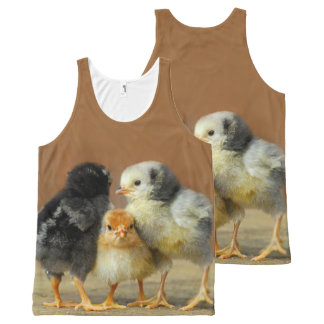 Three Baby Chicks All-Over Print Tank Top