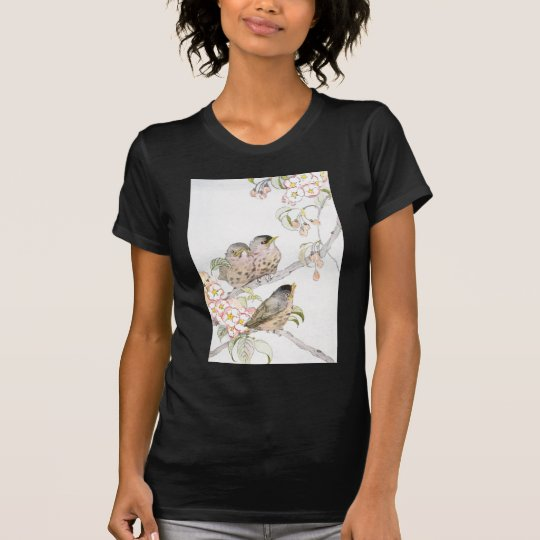 Three Baby Robins in a Cherry Tree T-Shirt