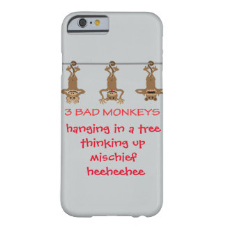 Three bad monkeys barely there iPhone 6 case