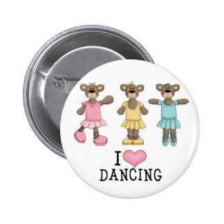 Three Ballet Bears Buttons