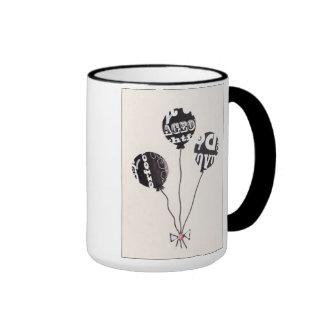 Three Ballons Ringer Mug