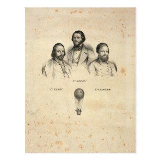Three Balloonists postcard