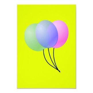 three balloons personalized invitations