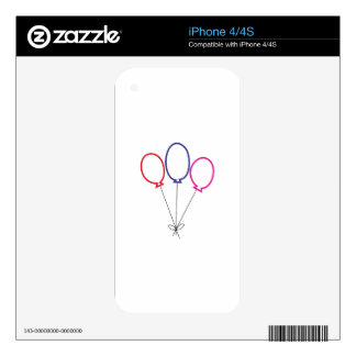 Three Balloons Skin For The iPhone 4S