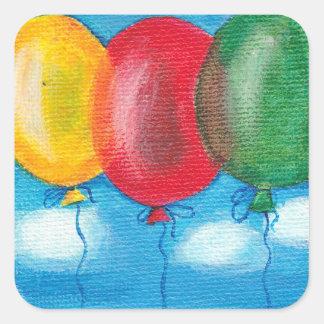 Three balloons sticker
