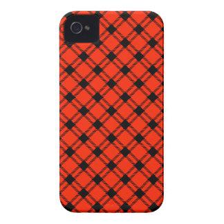 Three Bands Large Diamond - Black on Scarlet iPhone 4 Case