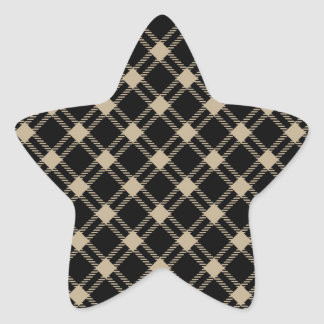 Three Bands Large Diamond - Khaki on Black Star Sticker
