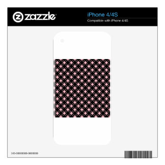 Three Bands Large Diamond - Pink on Black iPhone 4S Skins