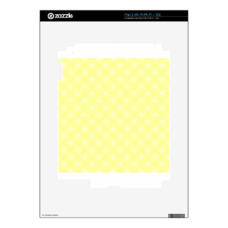 Three Bands Large Diamond - Yellow2 Decal For The iPad 2