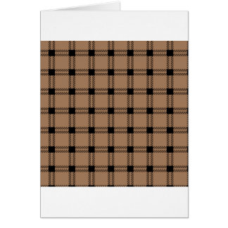 Three Bands Large Square - Black on Cafe au Lait Card