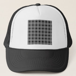 Three Bands Large Square - Black on Gray Trucker Hat