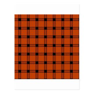 Three Bands Large Square - Black on Mahogany Postcard