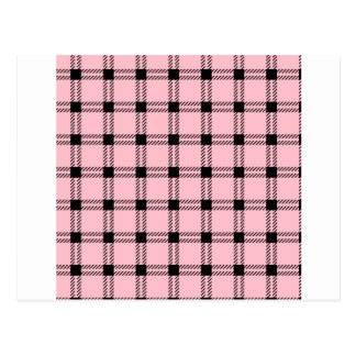 Three Bands Large Square - Black on Pink Postcard
