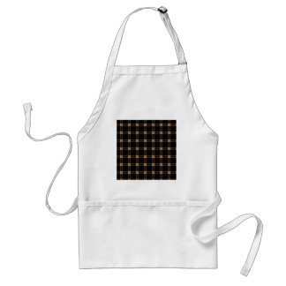 Three Bands Large Square - Cafe au Lait on Black Aprons