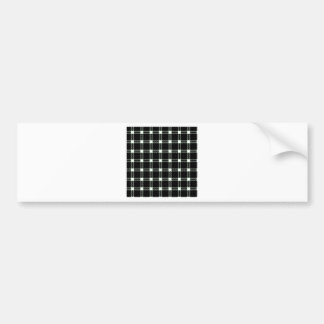 Three Bands Large Square - Honeydew on Black Car Bumper Sticker