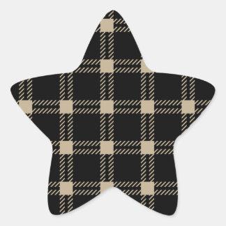 Three Bands Large Square - Khaki on Black Stickers