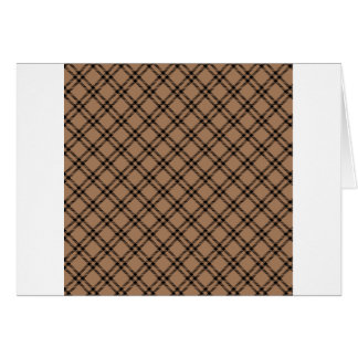 Three Bands Small Diamond - Black on Cafe au Lait Card