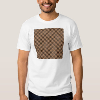 Three Bands Small Diamond - Black on Cafe au Lait T-Shirt
