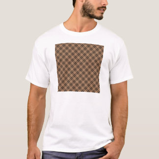 Three Bands Small Diamond - Black on Cafe au Lait T-Shirt