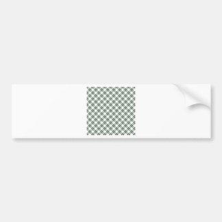 Three Bands Small Diamond - Black on Honeydew Car Bumper Sticker