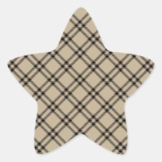 Three Bands Small Diamond - Black on Khaki Sticker