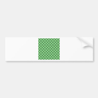 Three Bands Small Diamond - Black on Light Green Bumper Sticker