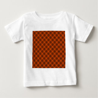 Three Bands Small Diamond - Black on Mahogany Baby T-Shirt