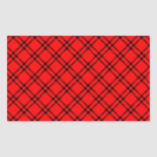 Three Bands Small Diamond - Black on Red Rectangular Sticker